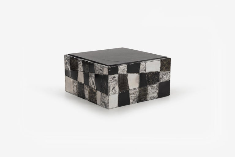 Mid-20th Century Paul Evans Argente Cube Coffee Table, Evans Studio for Directional For Sale