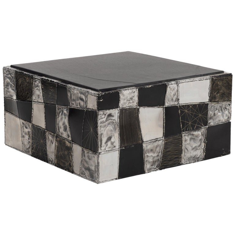 Paul Evans Argente Cube Coffee Table, Evans Studio for Directional For Sale
