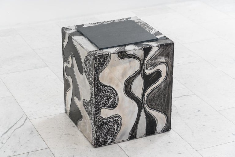 Paul Evans, Argente Cube Table 'PE-37', USA In Good Condition For Sale In New York, NY