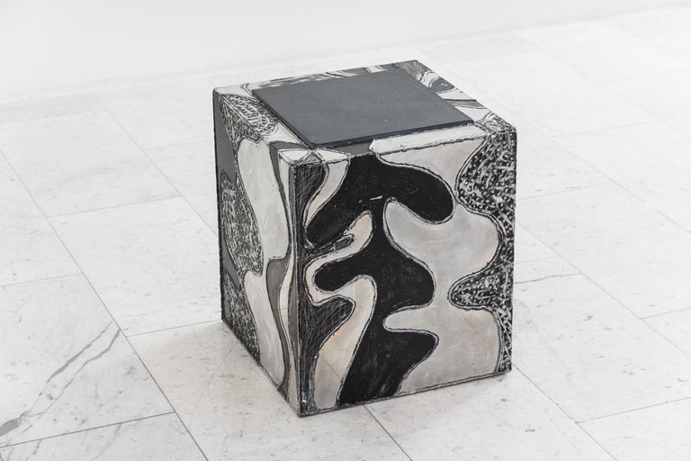 Late 20th Century Paul Evans, Argente Cube Table 'PE-37', USA For Sale