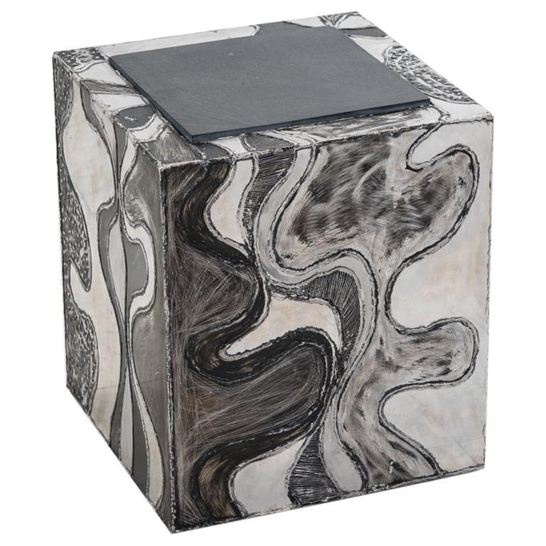 Paul Evans, Argente Cube Table 'PE-37', USA For Sale