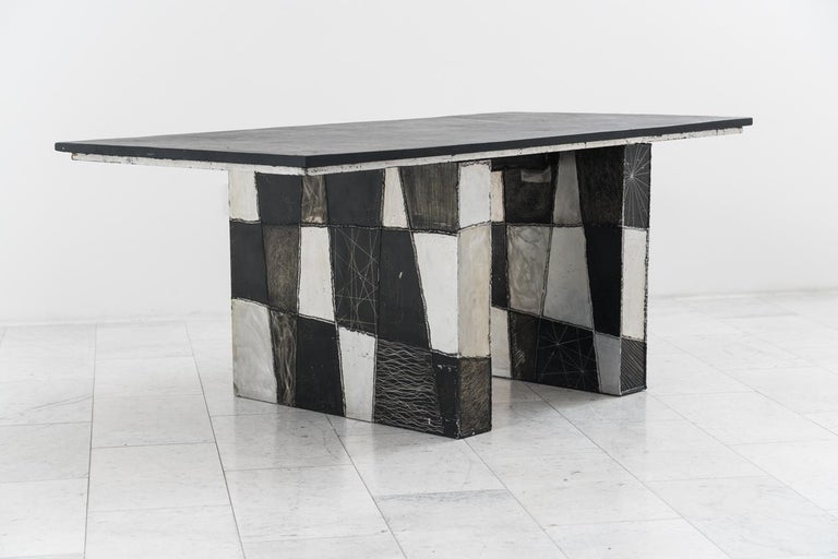 Paul Evans, Argente Desk, USA In Good Condition For Sale In New York, NY