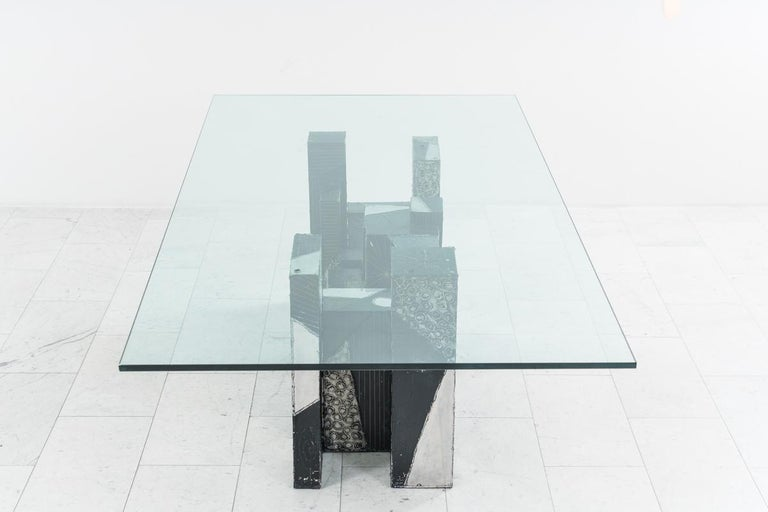 Paul Evans, Argente Skyline Dining Table, USA In Good Condition For Sale In New York, NY