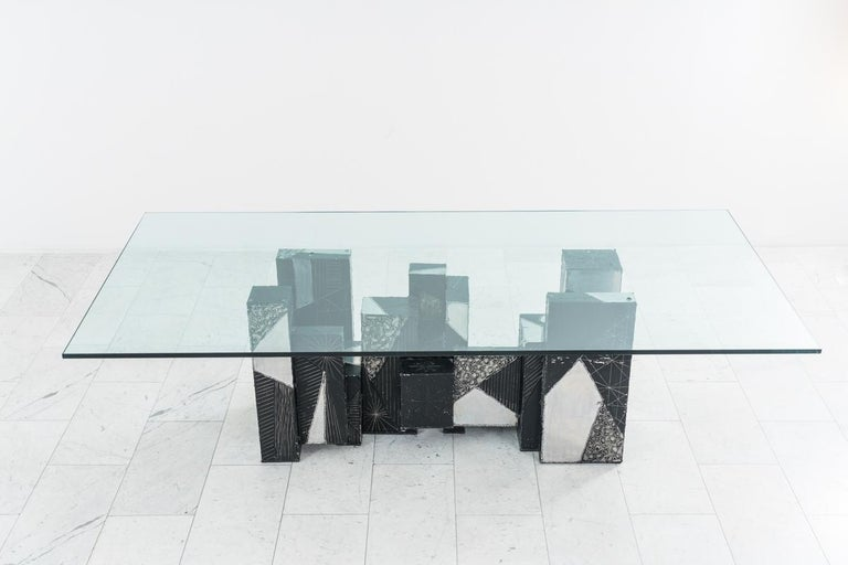 Mid-20th Century Paul Evans, Argente Skyline Dining Table, USA For Sale