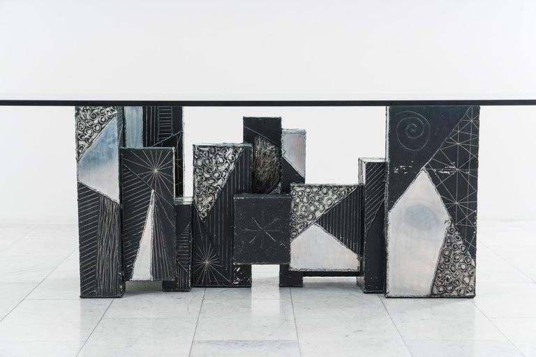 Paul Evans, Argente Skyline Dining Table, USA For Sale 1