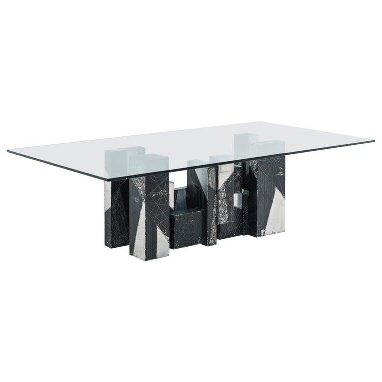 Paul Evans, Argente Skyline Dining Table, USA For Sale