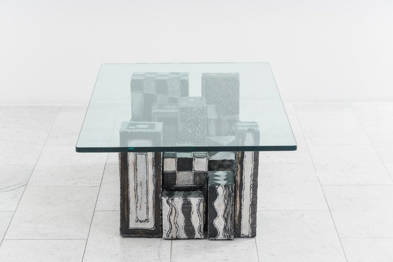 Paul Evans, Argente Skyline Low Table, USA In Good Condition For Sale In New York, NY