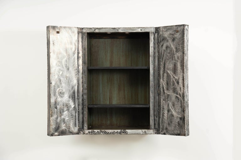 American Paul Evans, Argente Wall Mounted Cabinet 'PE-39', USA For Sale