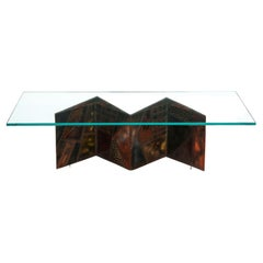 Paul Evans Artisan PE-11 Coffee Table 1974 'Signed And Dated'