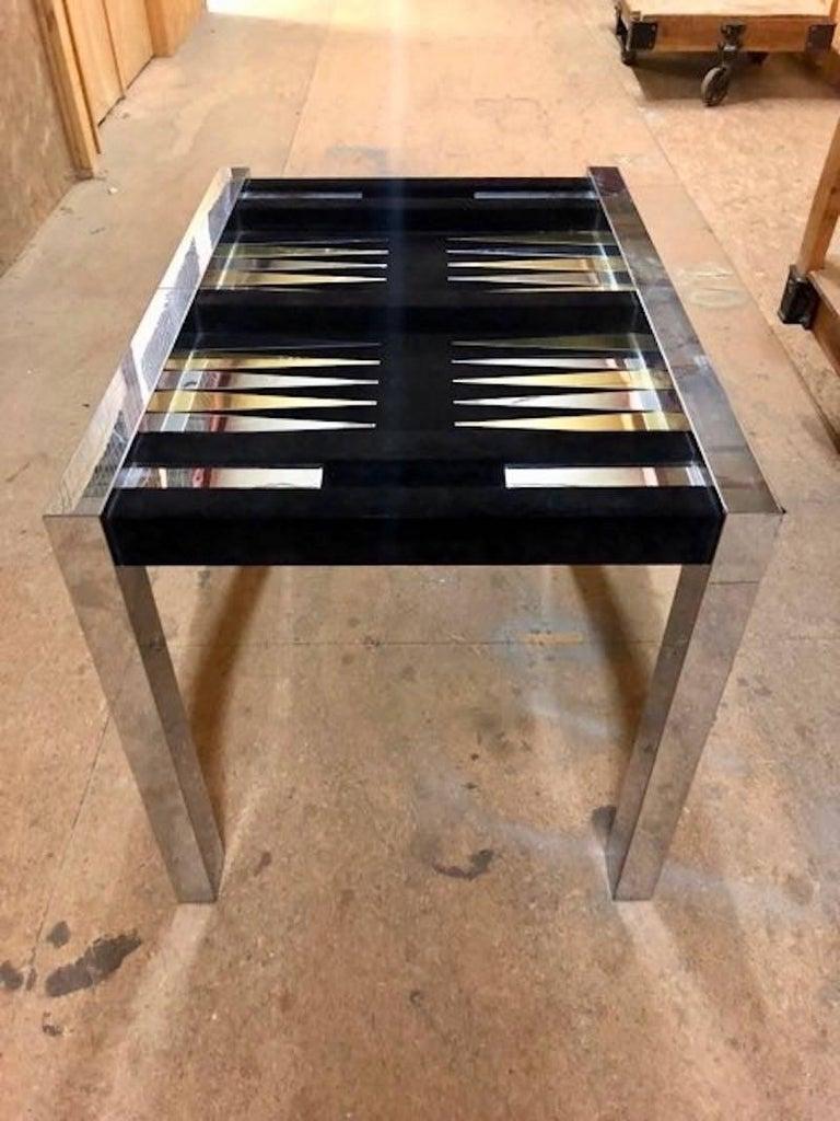 Paul Evans Backgammon Table For 4