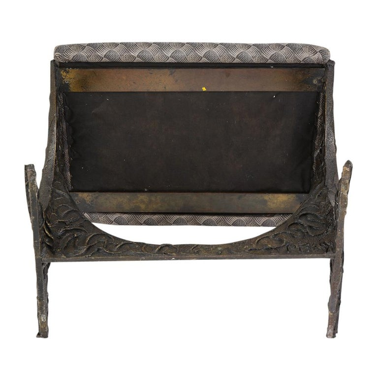 Paul Evans Benches, Sculpted Bronze, Signed For Sale 13