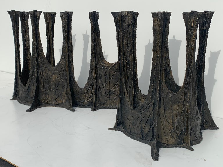 Paul Evans Brutalist Bronze Stalagmite Dining Table For Sale 8