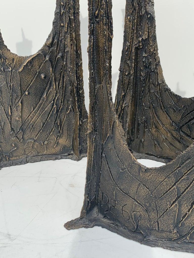 Paul Evans Brutalist Bronze Stalagmite Dining Table For Sale 9