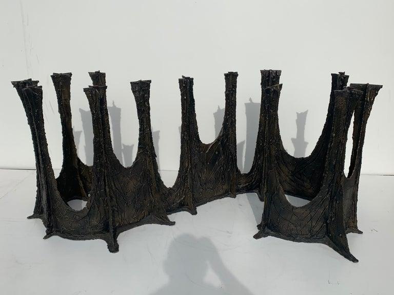 Paul Evans Brutalist Bronze Stalagmite Dining Table For Sale 1