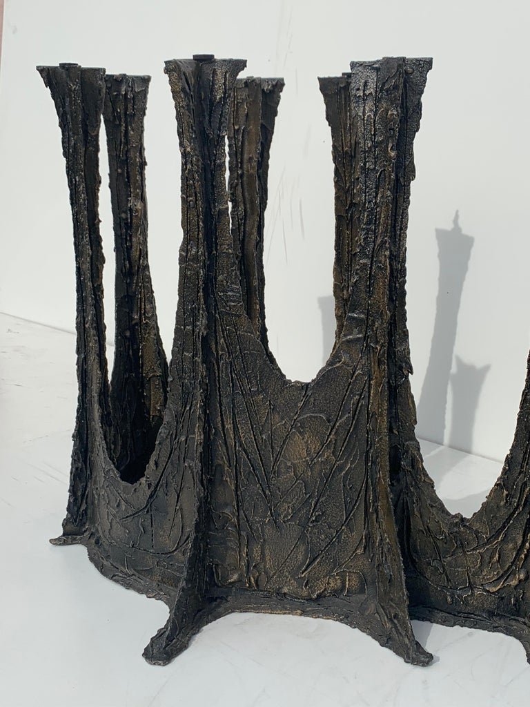Paul Evans Brutalist Bronze Stalagmite Dining Table For Sale 4