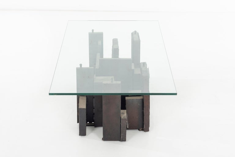 Late 20th Century Paul Evans Brutalist Coffee Table For Sale