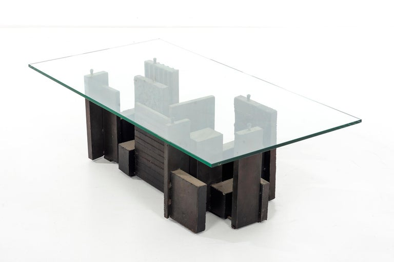 Paul Evans Brutalist Coffee Table For Sale 1