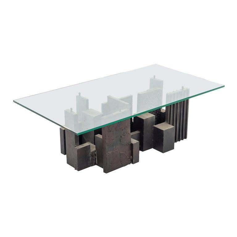 Paul Evans Brutalist Coffee Table For Sale