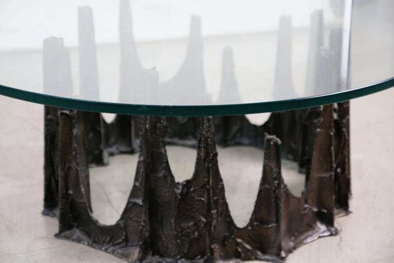 Paul Evans Brutalist Sculpted Bronze Stalagmite Table, Signed and Dated 1970 For Sale 2