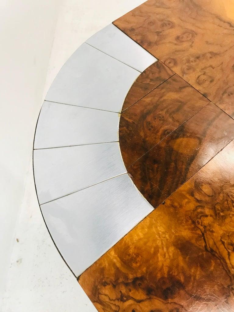 Paul Evans Burl Wood/Chrome Dining Table For Sale 5