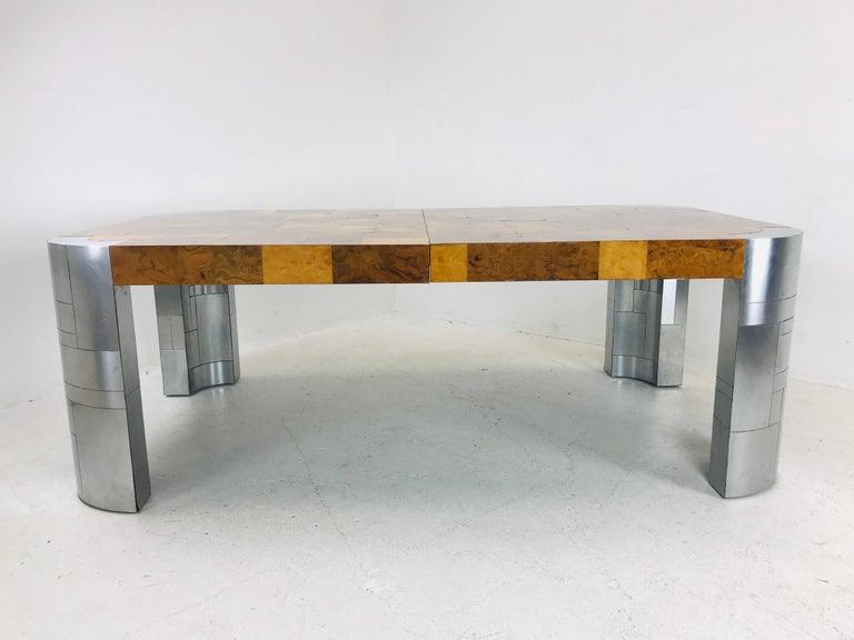 Paul Evans Burl Wood/Chrome Dining Table For Sale 6