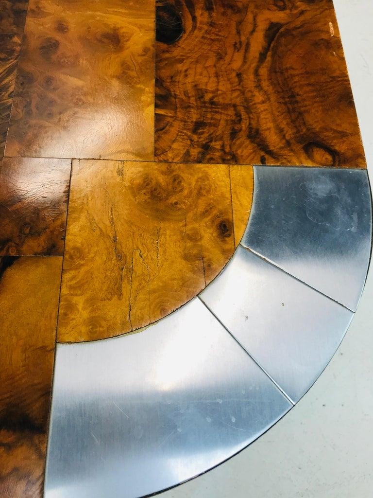 Paul Evans Burl Wood/Chrome Dining Table For Sale 8