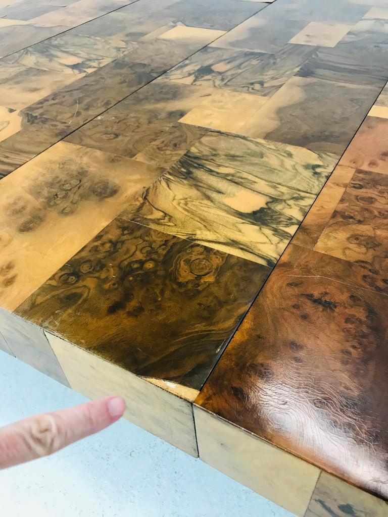 Paul Evans Burl Wood/Chrome Dining Table For Sale 1