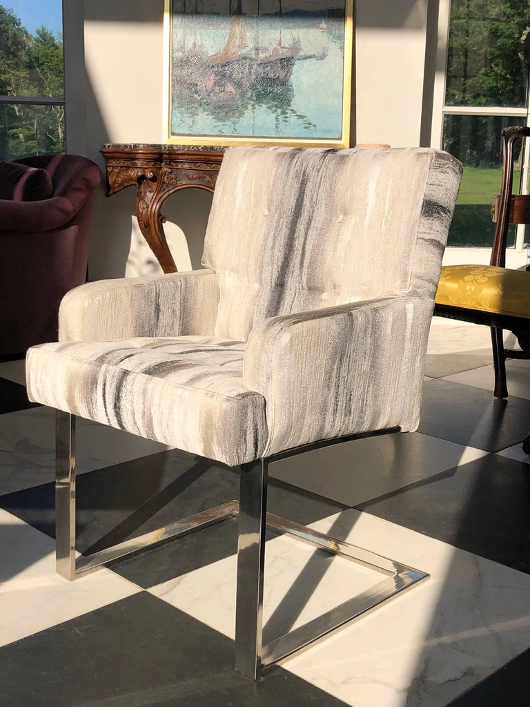 Hand-Crafted Paul Evans Cantilevered Chairs For Sale