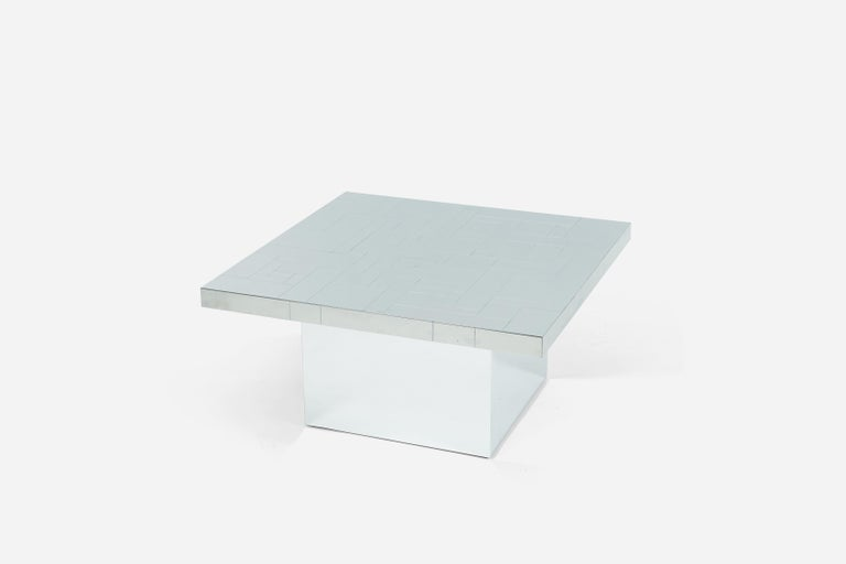 Mid-Century Modern Paul Evans Chrome Cityscape Coffee Table For Sale