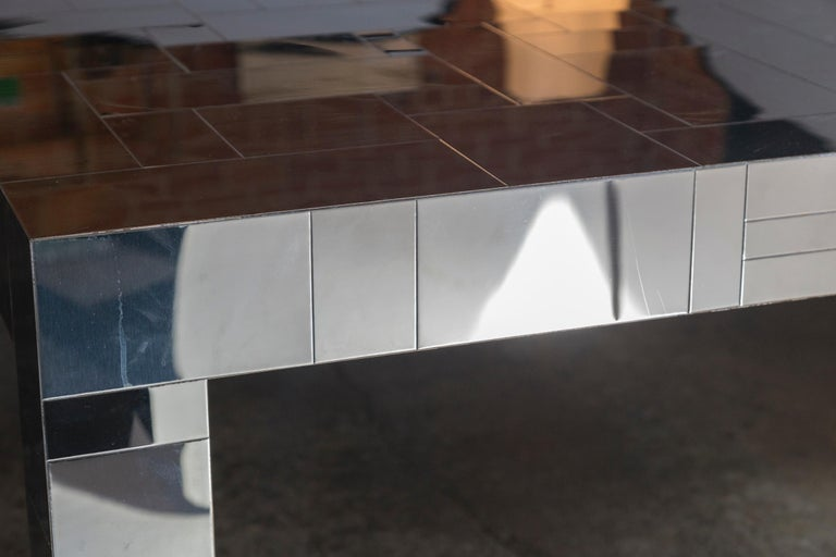 Paul Evans Chrome Cityscape Dining Table for Directional, 1970s For Sale 1