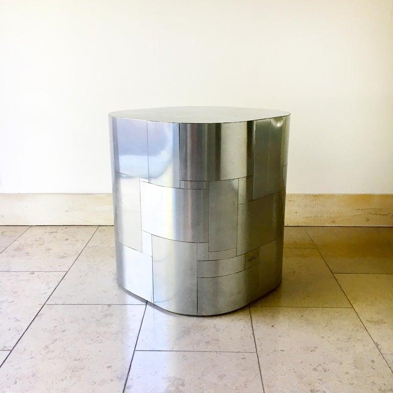 Paul Evans Chrome Cityscape Pedestal Table Base, 1970s For Sale 1
