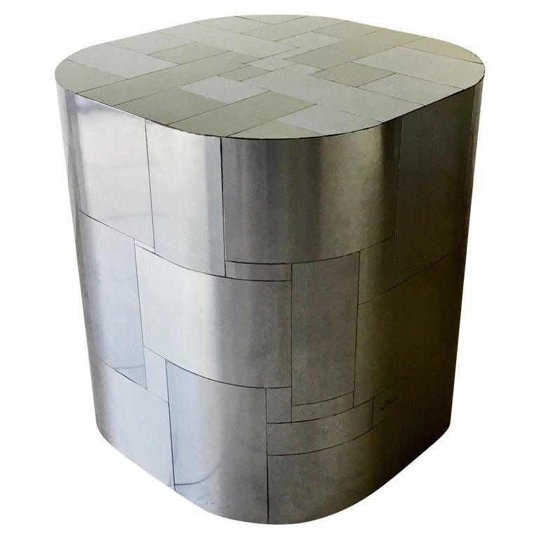 Paul Evans Chrome Cityscape Pedestal Table Base, 1970s For Sale