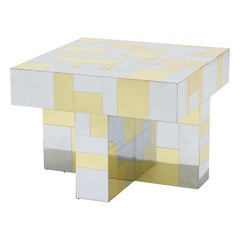 Paul Evans, Cityscape Brass and Chrome Occasional Table, PE 400 Series