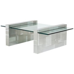 Paul Evans Cityscape Chrome and Glass Coffee Table