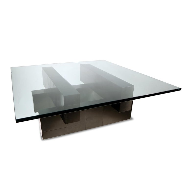 Mid-Century Modern Paul Evans Cityscape Coffee Table For Sale