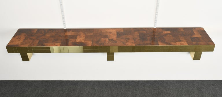 American Paul Evans Cityscape Console Table for Directional, USA, 1980s For Sale