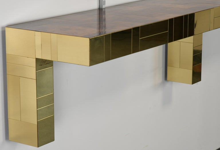 Paul Evans Cityscape Console Table for Directional, USA, 1980s For Sale 2