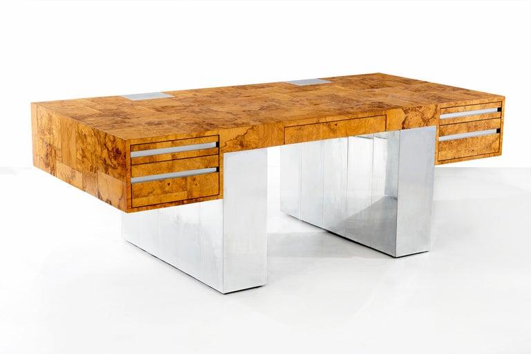 Mid-Century Modern Paul Evans Cityscape Desk For Sale