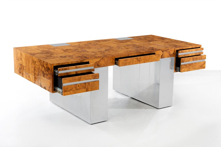 American Paul Evans Cityscape Desk For Sale