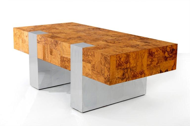 Burl Paul Evans Cityscape Desk For Sale