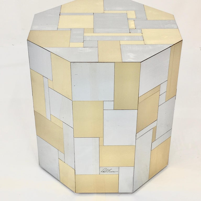Polished Paul Evans Cityscape Hex-Octagonal Breakfast Table For Sale
