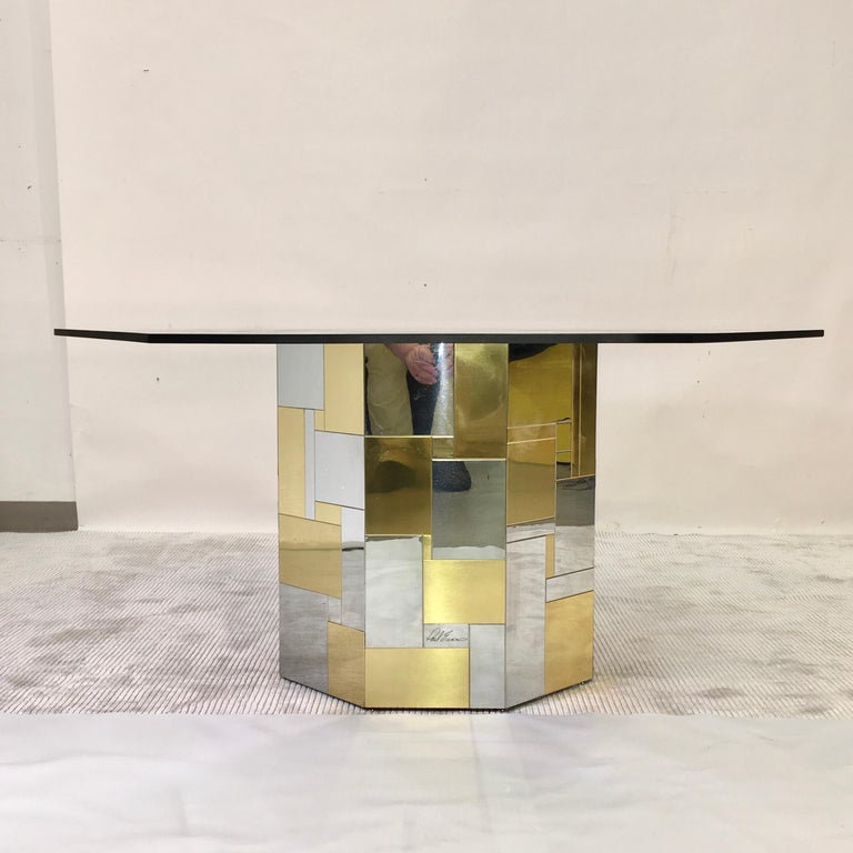 Paul Evans Cityscape Hex-Octagonal Breakfast Table In Good Condition For Sale In Hingham, MA