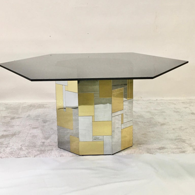 Late 20th Century Paul Evans Cityscape Hex-Octagonal Breakfast Table For Sale