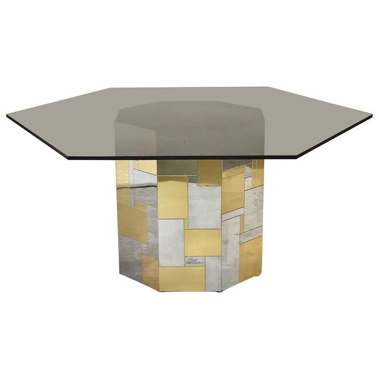 Paul Evans Cityscape Hex-Octagonal Breakfast Table For Sale