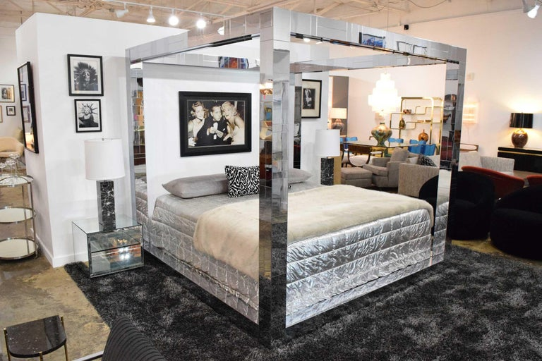 Stunning, hard to find.  A Paul Evans signed Cityscape King size bed. This one is in beautiful condition. As used by Kelly Wearstler and Jonathan Adler.