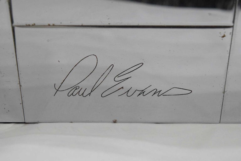 20th Century Paul Evans Cityscape King Size Bed Frame, Signed For Sale
