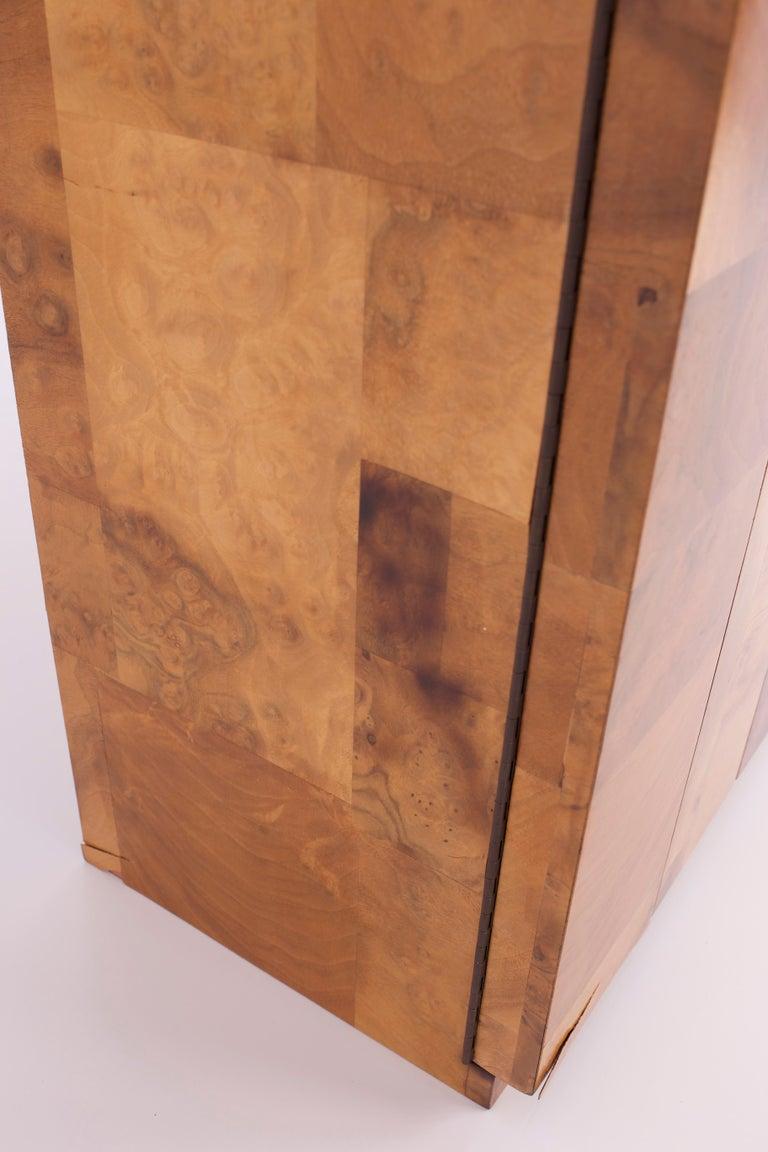 Paul Evans Midcentury Burl Wood Floating Display Cabinet For Sale 3