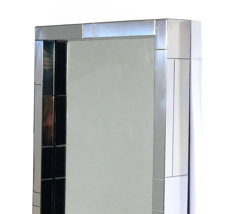 American Paul Evans Cityscape Mirror and Floating Console Table For Sale