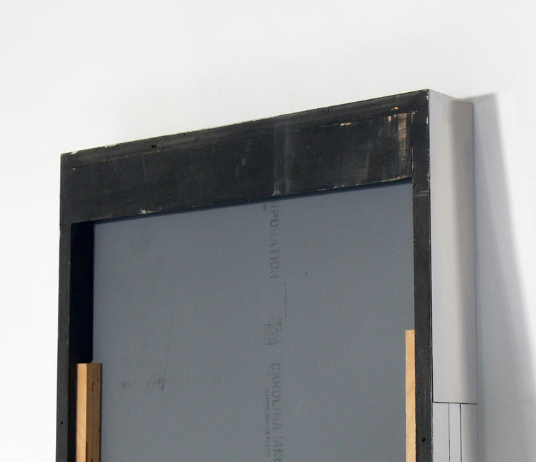 Paul Evans Cityscape Mirror and Floating Console Table In Good Condition For Sale In Atlanta, GA