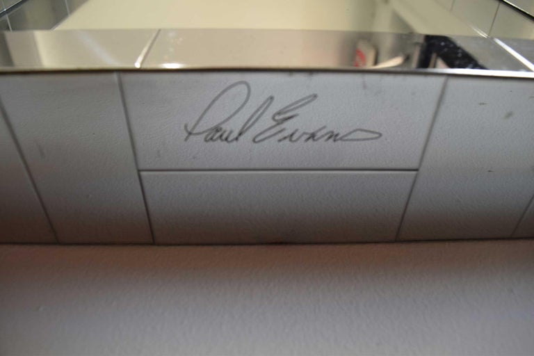 20th Century Paul Evans Cityscape Mirror in Chrome, Signed For Sale